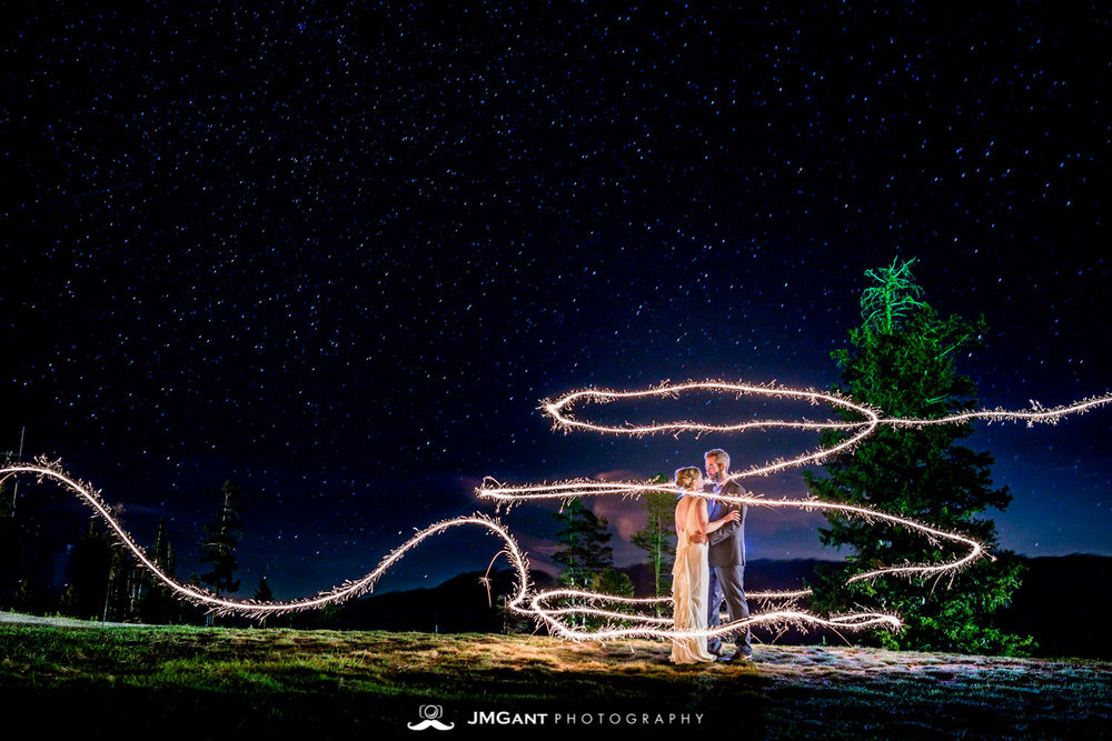 Long exposure, sparkler exit, Winter Park wedding, JMGant Photography.
