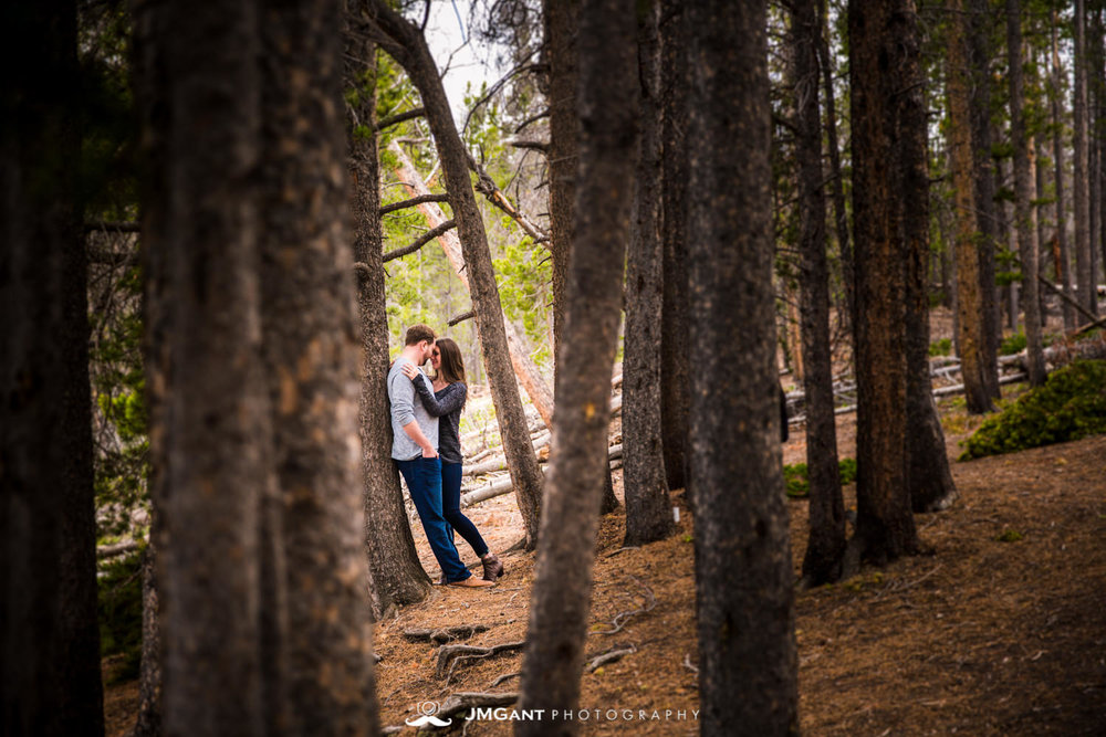Rocky Mountain National Park Engagement Photography by JMGant Photography. Estes Park, Winter Park, Vail, Aspen Steamboat Springs Wedding photographer.