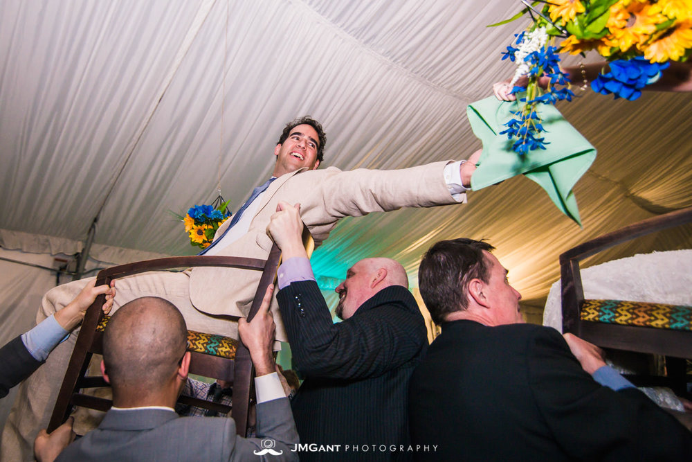 Fun Jewish wedding at Arrowhead Golf Club