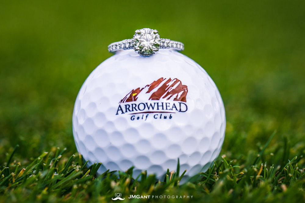 Arrowhead Golf Club summer wedding.