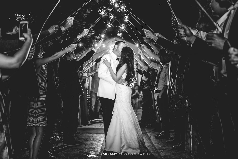 Vail Colorado Wedding | Sparkler exit | Colorado wedding photographer | © JMGant Photography | http://www.jmgantphotography.com/