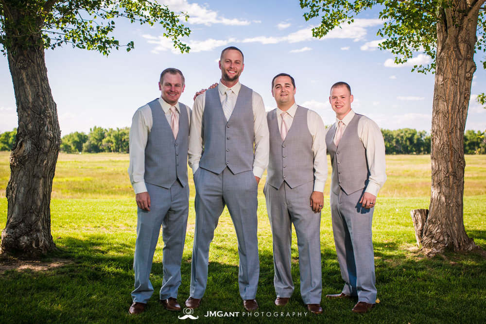 Platte River Fort Wedding | Groomsmen | Greeley Colorado wedding photographer | © JMGant Photography | http://www.jmgantphotography.com/
