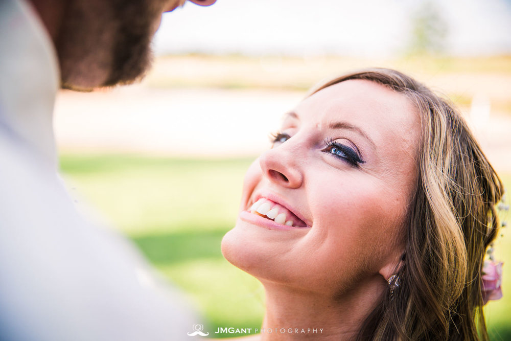 Platte River Fort Wedding | Bride and groom newlywed photos | Greeley Colorado wedding photographer | © JMGant Photography | http://www.jmgantphotography.com/