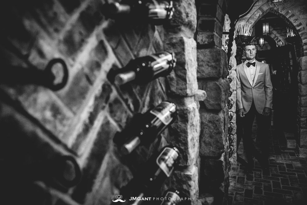 Denver Colorado Wedding | Groomals in wine cellar | Colorado wedding photographer | © JMGant Photography | http://www.jmgantphotography.com/