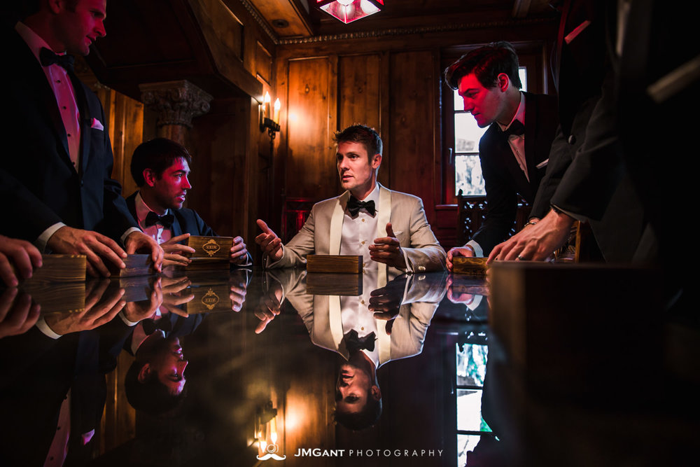 Denver Colorado Wedding | Groomsmen receiving gifts | Colorado wedding photographer | © JMGant Photography | http://www.jmgantphotography.com/