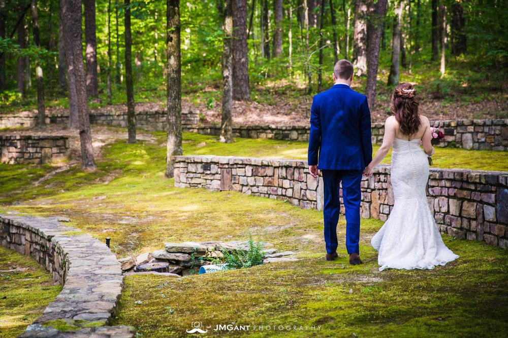 Anthony Chapel Wedding | first look |  Hot Springs Arkansas Wedding photographer | © JMGant Photography | http://www.jmgantphotography.com/