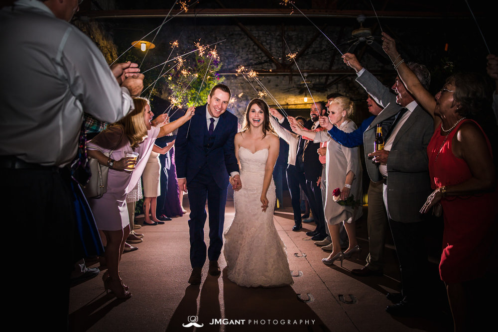 Anthony Chapel Wedding | sparkler send off | Hot Springs Arkansas Wedding photographer | © JMGant Photography | http://www.jmgantphotography.com/