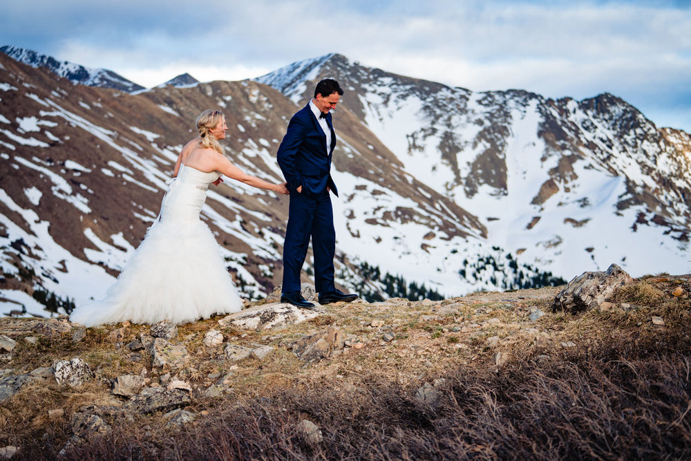 Loveland Pass Firstlook by Colorado wedding photographer Jared M. Gant of JMGant Photography.