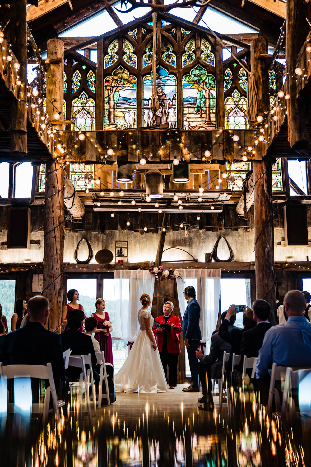 Barn at Evergreen Memorial Wedding by Evergreen Colorado Wedding Photographer JMGant Photography.