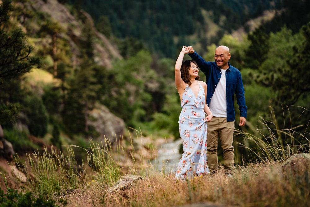 Boulder Colorado engagement photos by Boulder photographer JMGant Photography - Marcus and Lien