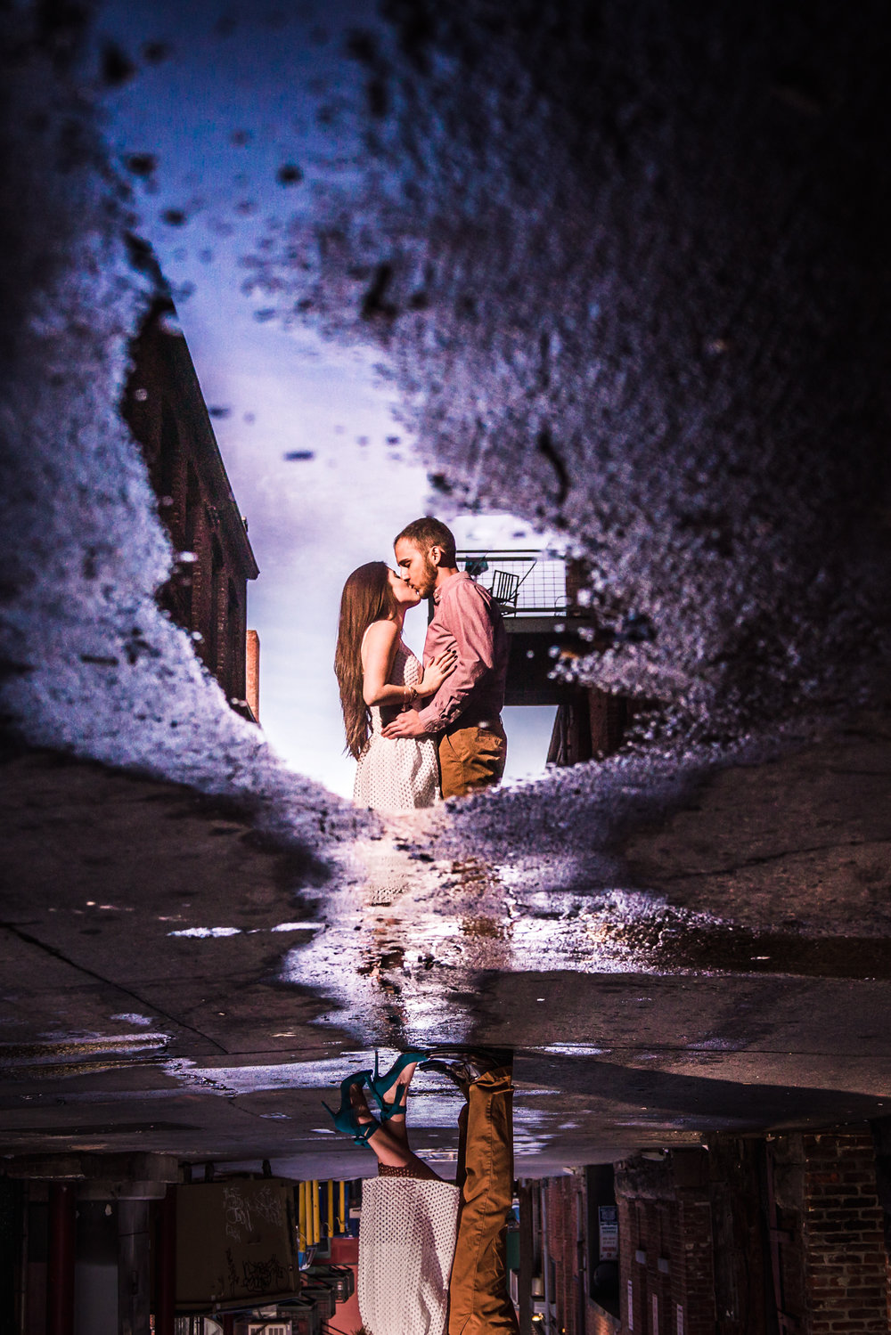 Downtown Denver Engagement Pictures captured by wedding photographer JMGant Photography