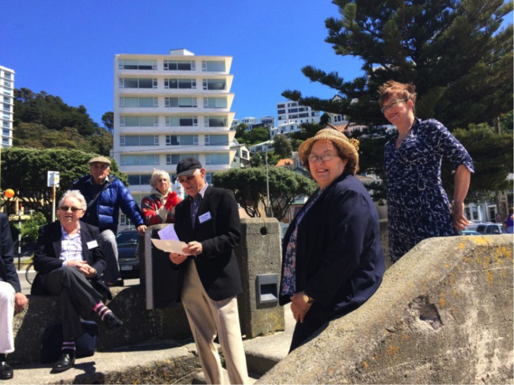 Pictured here (from right) are Mayor Celia Wade-Brown, life member Jane Aim and President Colin Blair, at the launch of the swimming rafts earlier this year.  Photo by Renée Sara