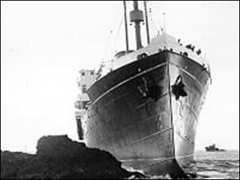 Wanganella aground