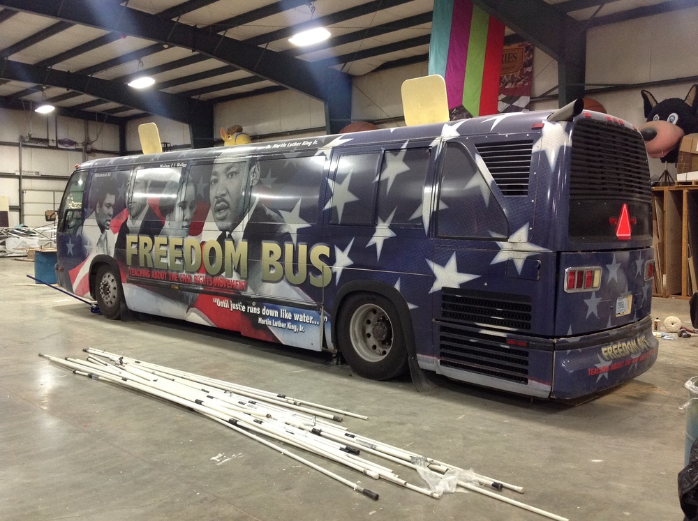@ Expo Design where Miles Printing designed and created the interior for The Freedom Bus.