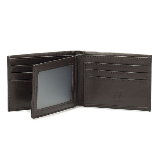 Is his wallet falling apart? We carry multiple styles, colors and brands of quality leather wallets, like this one from Mywalit. $85