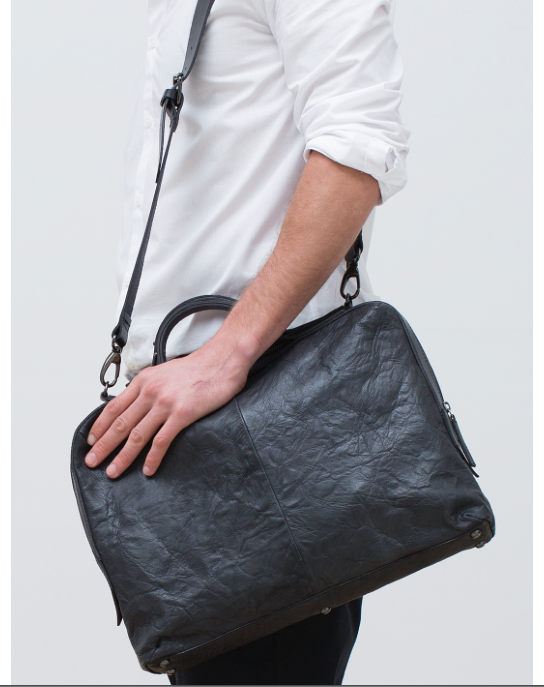 This leather briefcase satchel is hip yet classic, and will last for years to come. $275