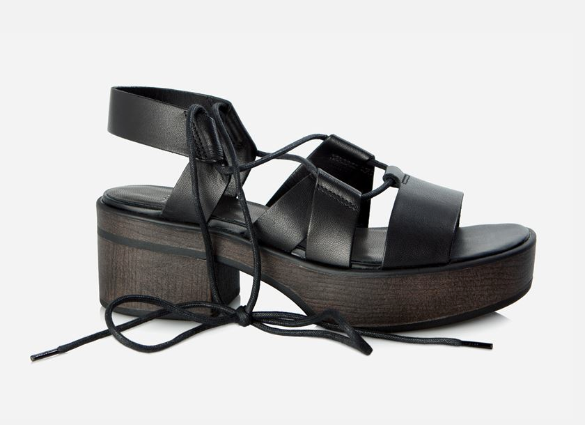 Make a statement. These chunky lace up platforms exude urban style.