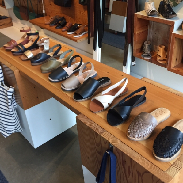 Some of the styles at Mississippi Avenue. Brands featured include: Latigo, Vagabond, Kelsi Dagger Brooklyn, Pons, El Naturalista, Miz Mooz and Kork-Ease.