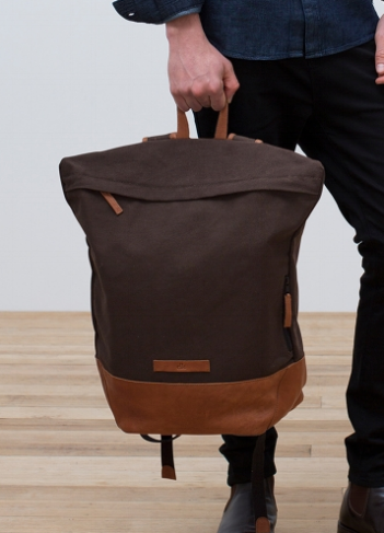 Elk Canvas and Leather Backpack