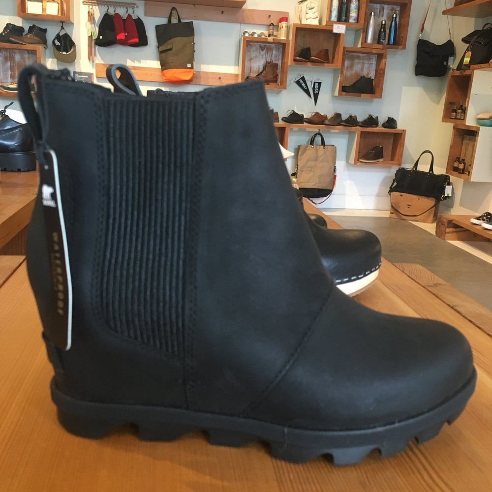 Sorel Joan of Arctic Wedge II, in black (and waterproof!), $206.00