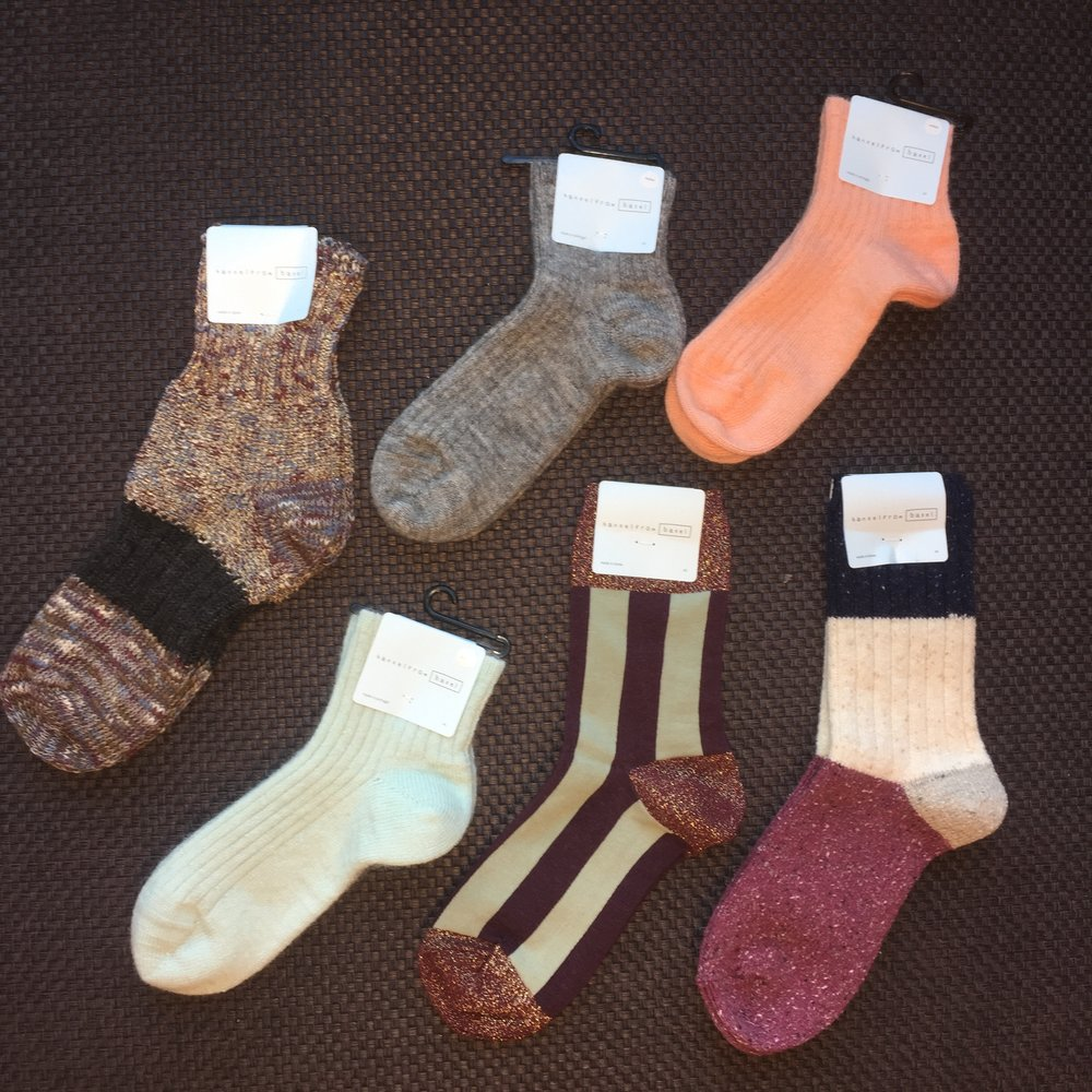 Socks are always a great idea for a gift. Everyone wears them and we have so many styles to choose from. *Socks shown are from Hansel by Basel with varying prices.