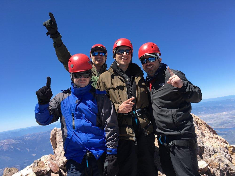 2016 - the CDR team climbs 14,180 feet to summit Mount Shasta
