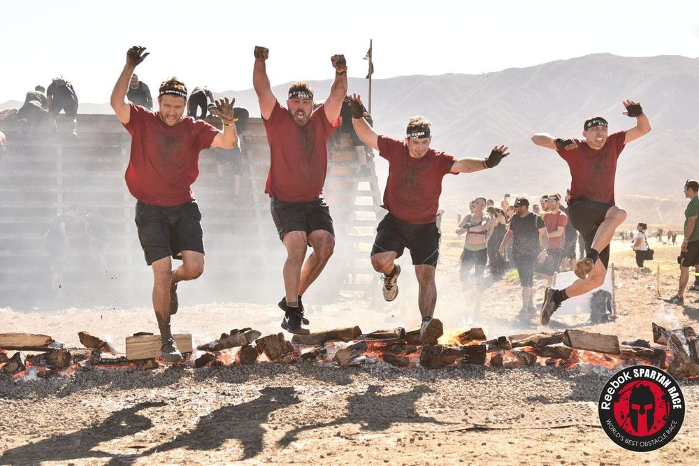 The CDR team of 'No Fear Engineers' completes the Spartan Run!