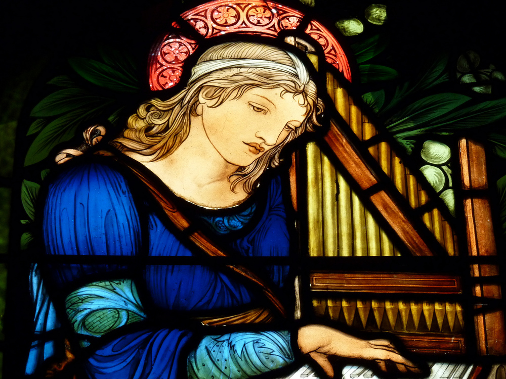 Saint Cecilia, the patron saint of musicians. Photograph: yooperann