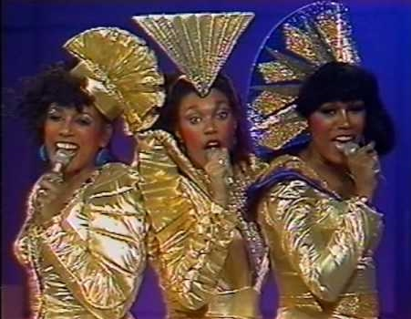 Covered in gold: the Pointer Sisters have a Springsteen in their step