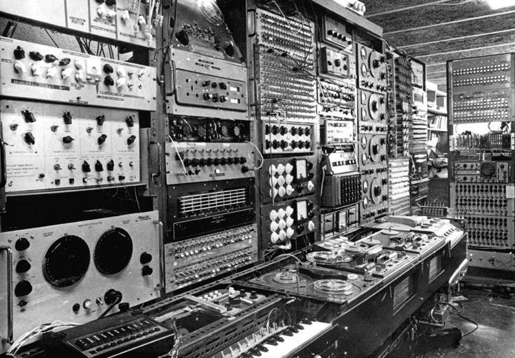 Unit Delta Studio in 1966, set up by Delia Derbyshire of the BBC Radiophonic Workshop