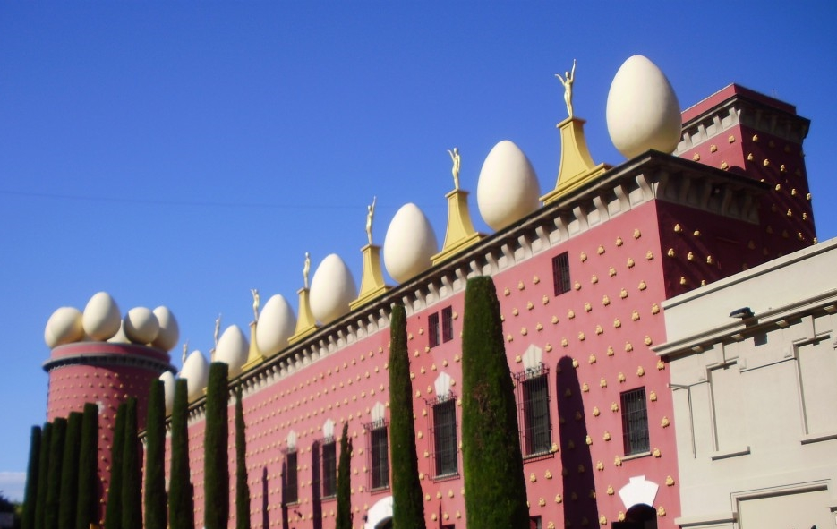 Egg-centric. A view of the Salvador Dali Museum in Figueres, Spain. Photograph: Marco den Ouden