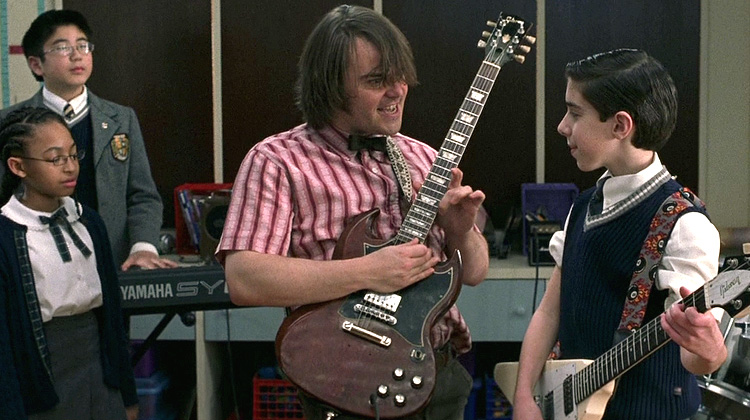 Teacher feedback? Richard Linklater's The School of Rock (2003). Oh yes.