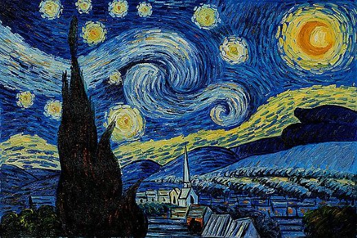 Fractal order from mental chaos? The Starry Night by Vincent van Gogh (1889)