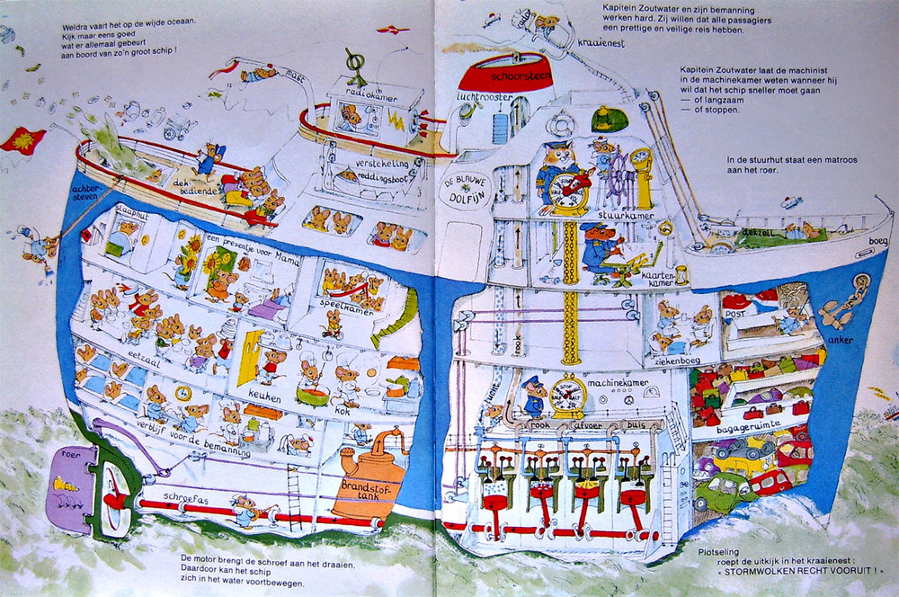 Ship shape: a Richard Scarry cross-section