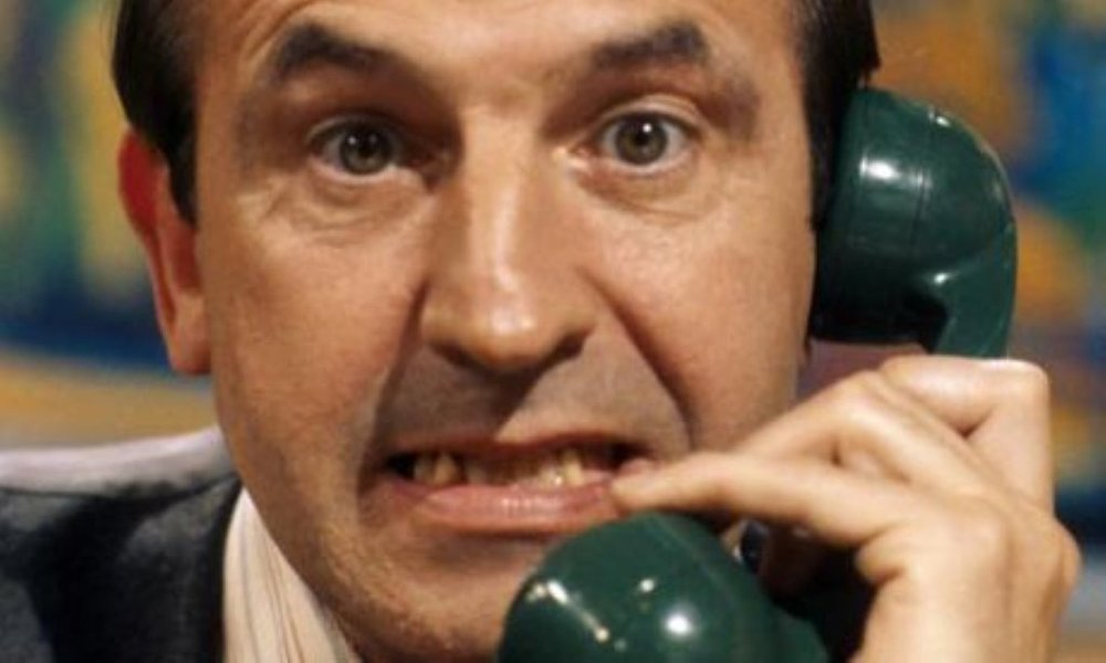 Reginald Perrin - definitely falling rather than rising