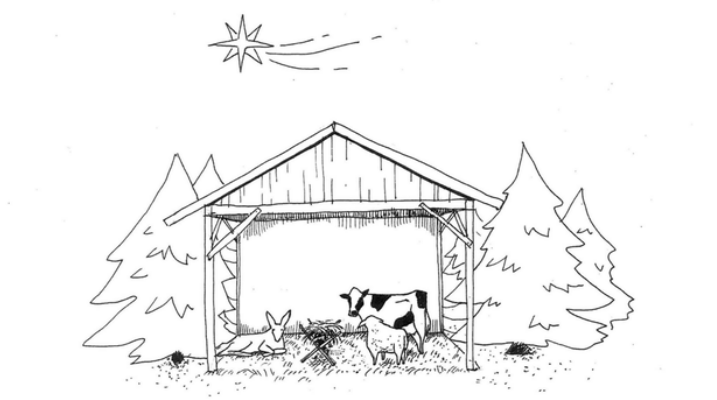 Nativity without refugees.