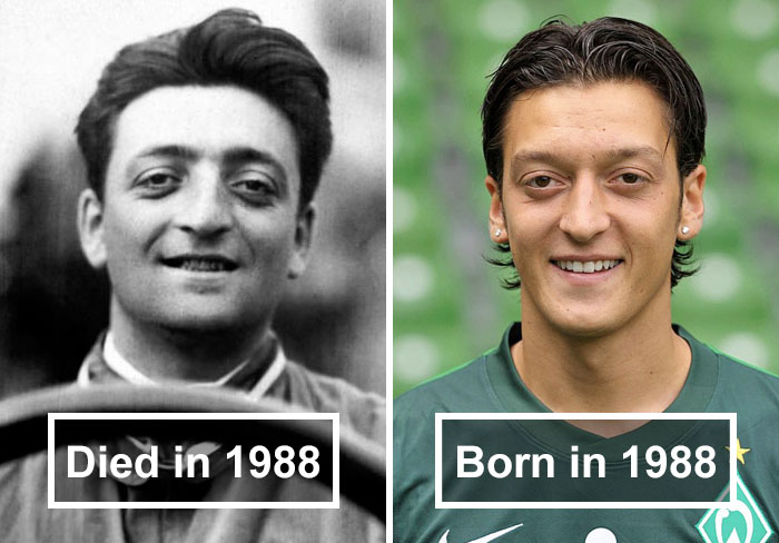 Enzo Ferrari and Mesut Özil