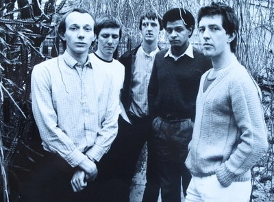 Magazine's original lineup, including Howard Devoto (left)