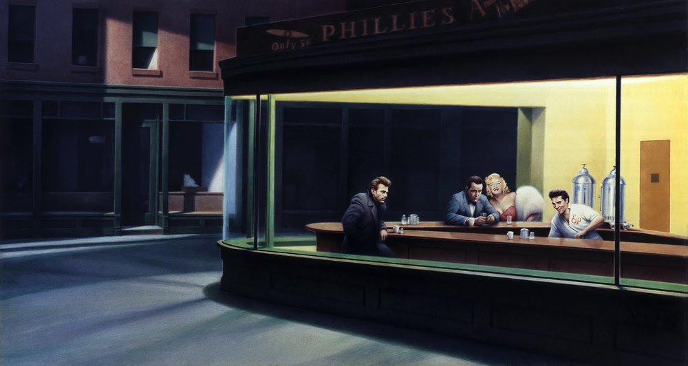 Edward Hopper's Boulevard of Broken Dreams, where film and music stars meet for a cuppa