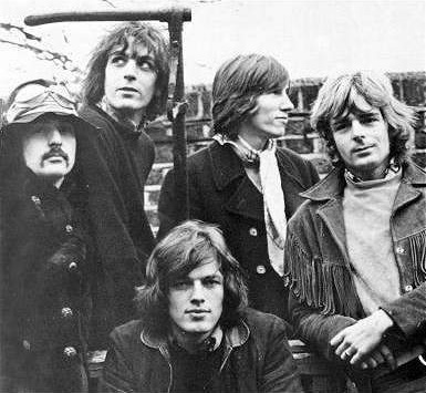 The rare five-member Pink Floyd of 1968, including Dave Gilmour (front) and Syd Barrett (second left)