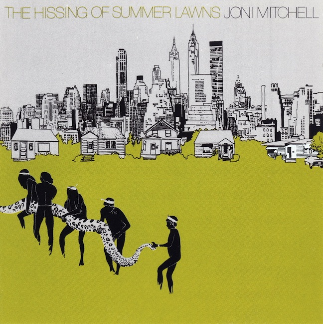 Album cover from Joni Mitchell's 1975 album The Hissing of Summer Lawns