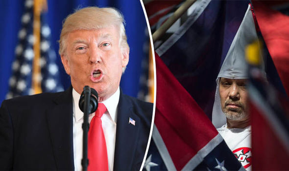Donald Trump is supported by far-right groups such as the KKK and neo-Nazis