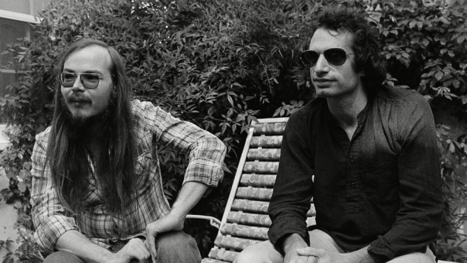 Steely Dan's Walter Becker, left, with Donald Fagan