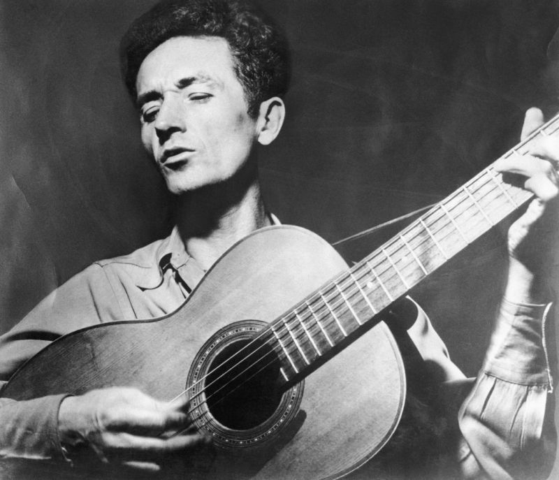 Woody Guthrie … ballads and cartoons