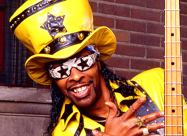 Bootsy's back. As understated as ever …