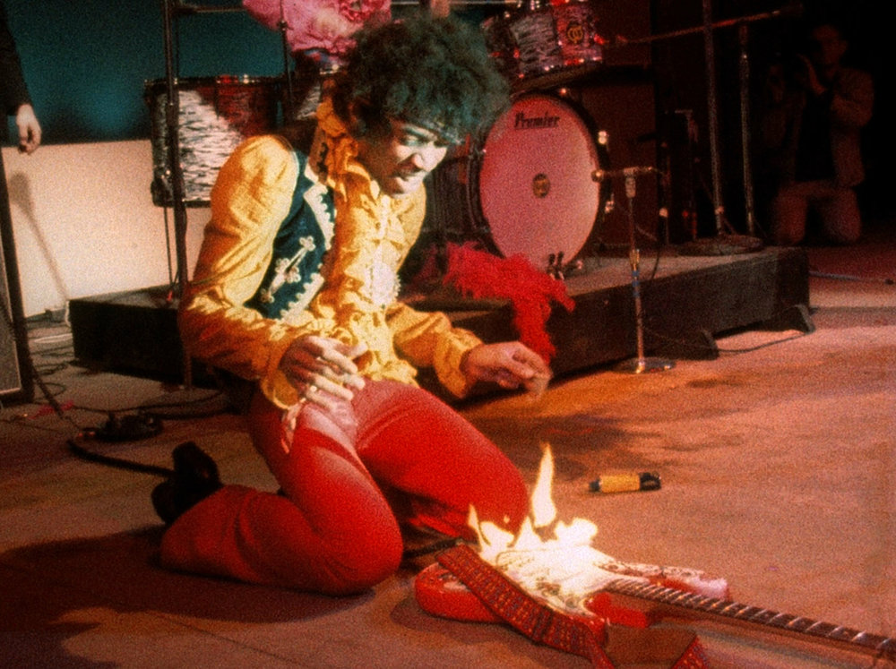 Jimi Hendrix … a player so hot his guitar become a ritual sacrifice