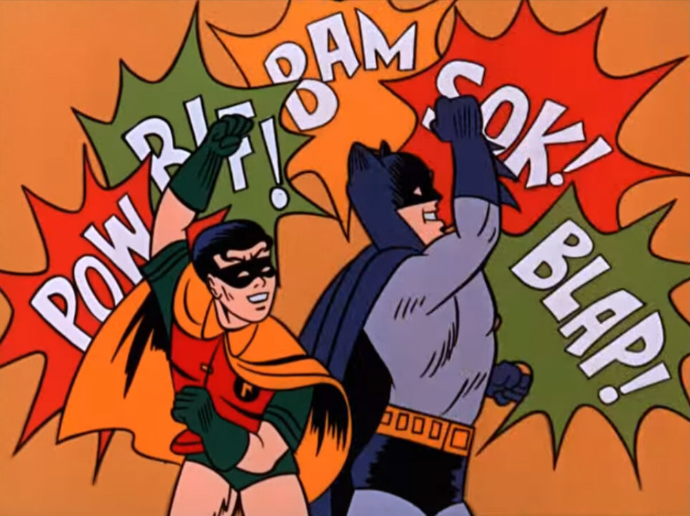 Holy smoke, Batman, it's onomatopoeia time …