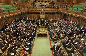 British Parliament's House of Commons. Like the Lords, it is full of (Dis)Honourable Members