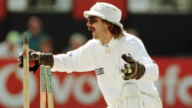 Jack Russell - eccentric wicketkeeper, who chose equally eccentric music to accompany his walk out to bat