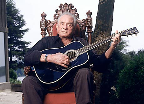 Johnny Cash. Still in pain, but with great dignity